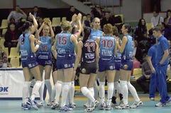 Het teamDynamo van Volleybal (doctorandus in de exacte wetenschappen) Stock Afbeeldingen