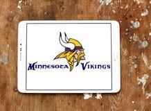 Het teamembleem van de Minnesota Vikings Amerikaans voetbal stock foto's
