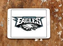 Het teamembleem van de Philadelphia Eagles Amerikaans voetbal stock foto's