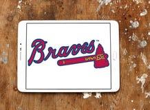 Het teamembleem van het Atlanta Braveshonkbal stock foto's
