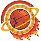 Het teamembleem van het basketbal Stock Foto's