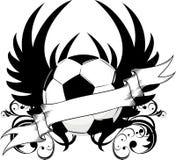 Het teamembleem van het voetbal Stock Afbeelding