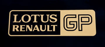Het teamembleem van Lotus Renault Stock Foto's