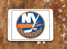 Het teamembleem van het New York Islandersijshockey stock fotografie