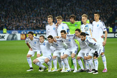 Het teamfoto van dynamokyiv vóór de Ligaronde van UEFA Europa van 16 tweede beengelijke tussen Dynamo en Everton Stock Afbeelding