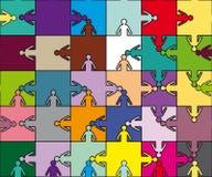 Het teamraadsel van de vriendschap Stock Fotografie