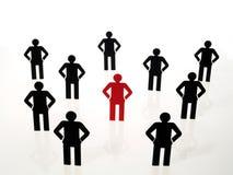 Het teamteken van mensen stock illustratie