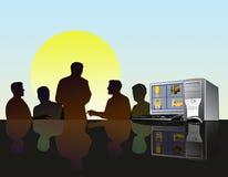 Het teamvergadering van het ontwerp Stock Fotografie