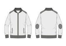 Het technische sweatshirt van de schetsmens met bandkraag in vector Royalty-vrije Stock Afbeeldingen