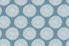 Het tedere blauwe naadloze patroon van de Bohobloem Royalty-vrije Stock Afbeelding