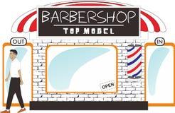 Het tegenmodel van Barber Shop royalty-vrije illustratie