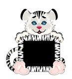 Het teken 2010 jaar is een mooie kleine tijger Stock Foto