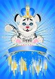 Het teken 2010 jaar is een mooie kleine tijger in a. c. Stock Fotografie