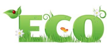 Het teken/de tekst van Eco Royalty-vrije Stock Foto