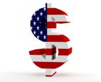 Het teken de V.S. van de dollar Stock Afbeeldingen