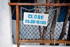 Het teken dicht van gebruikspool Royalty-vrije Stock Foto's