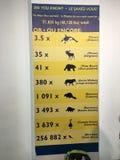 Het teken die hoeveel gewicht tonen de glasvloer van de CN Toren kan houden stock foto's