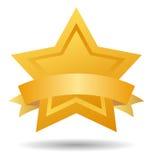 Het teken gouden ster van de kwaliteit Stock Foto