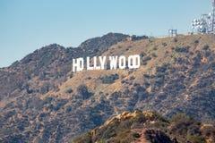 Het teken Hollywood royalty-vrije stock foto