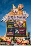 Het Teken Las Vegas van het circuscircus Stock Foto's