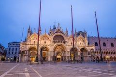 Het Teken` s Basiliek van heilige in Venetië Royalty-vrije Stock Foto