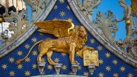Het Teken` s Basiliek van heilige in Venetië, Italië Architecturale details van het Teken` s Basiliek van Heilige, Venetië, Itali Royalty-vrije Stock Afbeeldingen