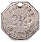 het Teken van 2 1/2 Cent Stock Afbeeldingen