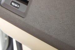 Het teken van het auto srs luchtkussen op dashboard stock afbeelding