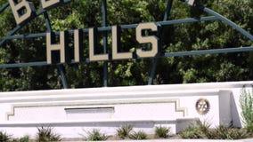 Het teken van Beverly Hills stock footage