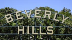 Het teken van Beverly Hills stock videobeelden