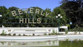 Het teken van Beverly Hills stock video