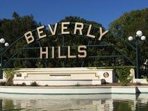 Het teken van Beverly Hills Stock Afbeeldingen
