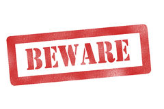Het Teken van Beware royalty-vrije stock afbeeldingen