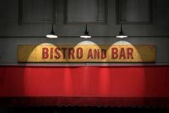 Het teken van Bistro Stock Foto