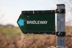 Het teken van Bridleway stock fotografie