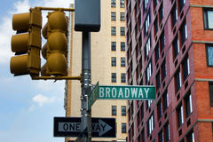 Het Teken van Broadway Royalty-vrije Stock Afbeelding