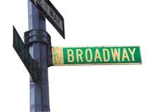 Het Teken van Broadway Stock Foto's
