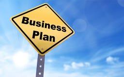 Het teken van het businessplan Stock Foto