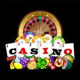 Het teken van het casinoembleem Royalty-vrije Stock Foto