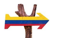 Het teken van Colombia op witte achtergrond wordt geïsoleerd die Stock Fotografie