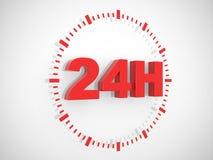 het teken van de 24 urenlevering stock illustratie
