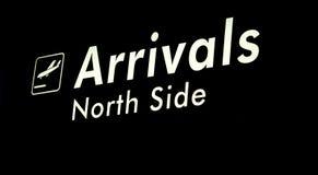 Het teken van de Aankomst van de luchthaven stock fotografie