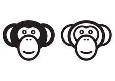 Het teken van de aap Royalty-vrije Stock Afbeelding