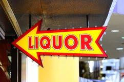 Het Teken van de alcoholische drank royalty-vrije stock fotografie