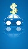 Het teken van de auto en van het geld Royalty-vrije Stock Afbeeldingen