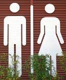 Het teken van de badkamers royalty-vrije stock fotografie