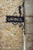 Het Teken van de Badkamers van mensen in Lissabon Royalty-vrije Stock Afbeeldingen