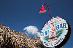 Het Teken van de Bar van Tiki Royalty-vrije Stock Fotografie