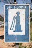 Het teken van de benzinepomp Stock Fotografie