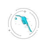 Het teken van de benzinepomppijp royalty-vrije illustratie